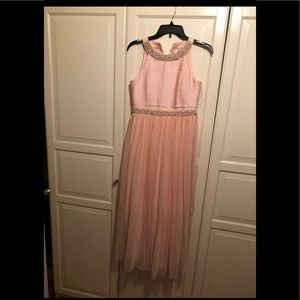 Blush color dress for girls